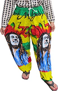 LOVELY BOB MARLEY 100% Rayon One Size Women's Print Exercise Yoga Harem Trousers