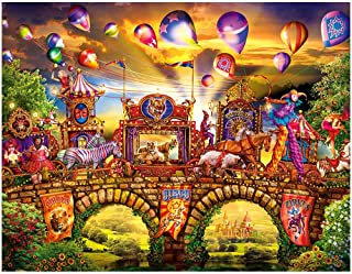 Jigsaw Puzzles for Adults 1000 Piece Carnival Circus Puzzles Difficult Large Puzzle Game Decompression Toys