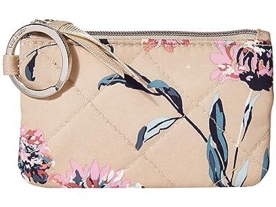 Vera Bradley Performance Twill Zip ID Case (Strawflowers) Wallet