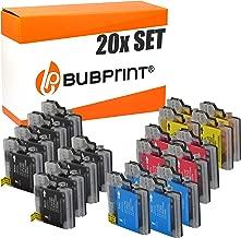 20 Bubprint Druckerpatronen kompatibel für Brother LC-1100 LC-980 für DCP-145C DCP-195C DCP-165C MFC-250C MFC-490CW MFC-5490CN MFC-5890CN MFC-6490CW