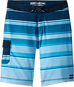 All Day X Stripe Boardshorts (Big Kids)