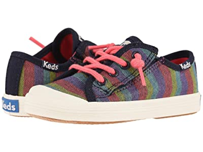 Keds Kids Kickstart Toe Cap (Toddler/Little Kid) (Rainbow Stripe) Girl