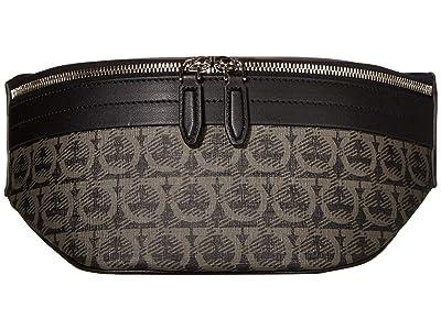 Salvatore Ferragamo Travel Fanny Pack (Black/Grey) Bags