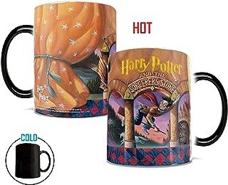 Morphing Mugs Harry Potter Book Cover Heat Reveal Ceramic Coffee Mug - 11 Ounces (The Sorcerer's Stone)