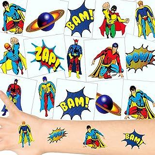 German-Trendseller ® - Kleine Super Heros Tattoos Set ┃ N