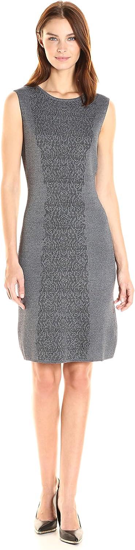 Nanette Nanette Lepore Womens Sleevelss Lace Jacquard Sweater Dress Dress
