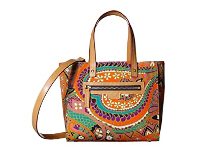 Frances Valentine Henry Satchel (Orange/Pink Multi) Handbags
