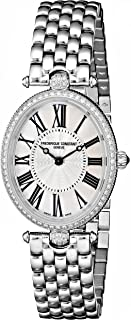 Frederique Constant Women's FC200MPW2VD6B Art Deco Diamond-Accented Stainless Steel Watch