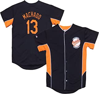 Outerstuff Manny Machado Baltimore Orioles Black Youth Team Leader Replica Jersey