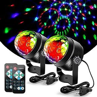Litake Discobol, discolicht, 3 W, feestverlichting, DJ, podiumverlichting, 7 kleuren, modi, muziekgestuurd, afstandsbedien...