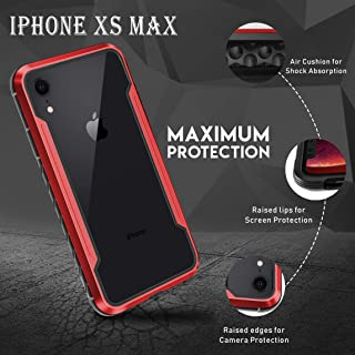 Protective case for Apple iPhone Xs Max 6.5 Inch Red Screen Military Grade Edge Cover Drop Tested, Anodized Aluminum, TPU, and Polycarbonate