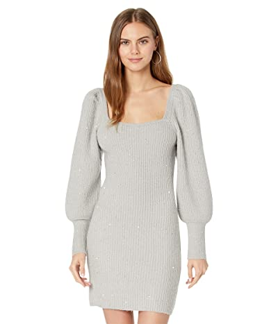 1.STATE Long Sleeve Square Neck Sweaterdress