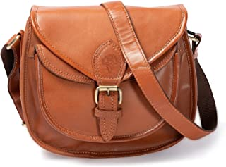 VINTAGE9 Women's Leather Handbag - Madona (Tan)