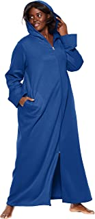 Women's Plus Size Hooded Fleece Robe