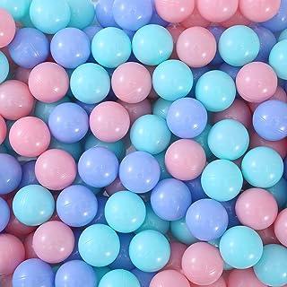 Thenese Pit Balls Crush Proof Plastic Children's Toy Balls Macaron Ocean Balls Small Size 2.15 Inch Phthalate & BPA Free