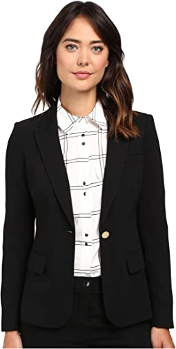 One Button Crepe Jacket