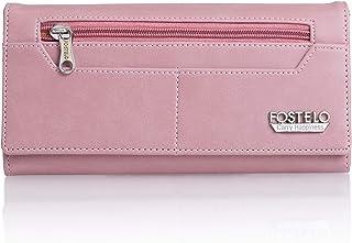 Fostelo Women's Satin Versatile Two Fold Wallet (Light Pink)