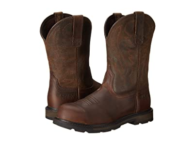 Ariat Groundbreaker Pull-on Steel Toe (Brown) Men