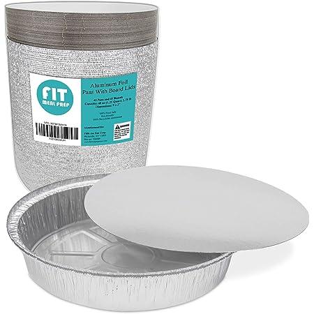 8/'/'x6/'/'x2/'/'Aluminum Pans Foil Pans with Lids Aluminum Pans Disposable with C...