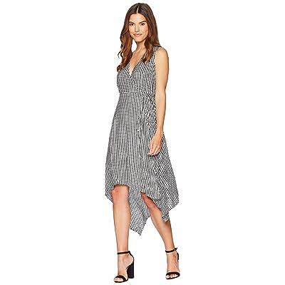 Bardot Asymmetrical Wrap Dress (Black/White) Women