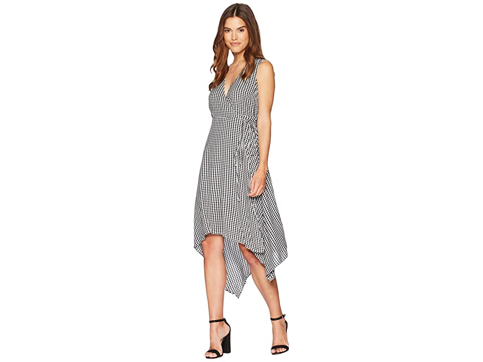 Bardot Asymmetrical Wrap Dress (Black/White) Women