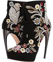 Alexander McQueen - Medieval Embroidered Horn Heel Bootie