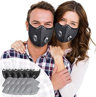 SOKERDY Sports Masks 5Piece with10PCS Filters Net...