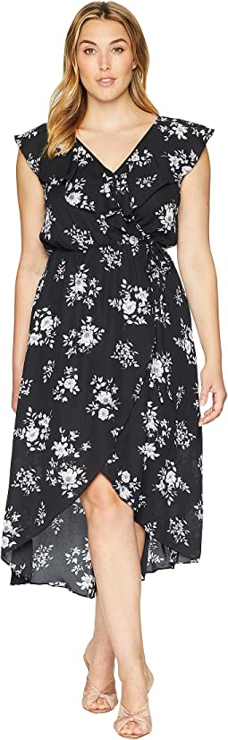 Plus Size Eloise V-Neck Ruffle Floral Dress