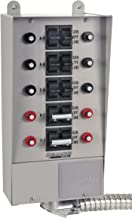 Reliance Controls Corporation 31410B Pro/Tran 10-Circuit Indoor Transfer Switch for Generators Up to 7,500 Running Watts