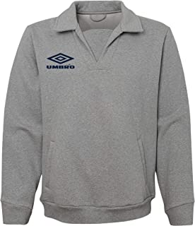 Umbro Men's Retro Drill Top Crew Neck Sweatshirt