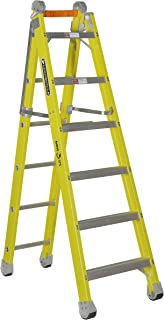 Louisville Ladder FXC1206 Step and Extension Ladder, 6-Foot, Yellow