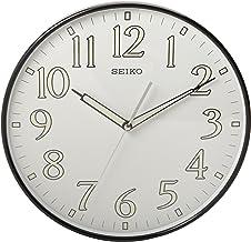 ساعة حائط Seiko 30.48 سم ذات إطار أسود مرقم