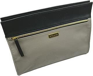 Estee Lauder Gray-Black Vinyl MakeUp Cosmetic Bag