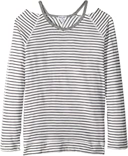 Cut Out Neckline Long Sleeve T-Shirt (Big Kids)