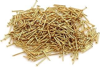 Design61 ronde kop pinnen spijkers spijker 1,0 mm x 12 mm ijzer messing 50 g ongeveer 590 stuks.
