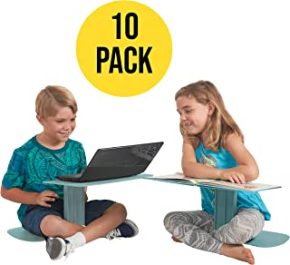 ECR4Kids The Surf - Portable Lap Desk/Laptop Stand/Writing Table, Seafoam (10-Pack)