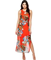 Vince Camuto - Sleeveless Havana Tropical Maxi Dress w/ Slits