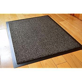 Grey Black Heavy Duty Non Slip Rubber Dirt Stopper Barrier Rug Small Medium Extra Large Doormat Long Narrow Hall Runner 6 40 X 60 Cms Amazon Co Uk Kitchen Home