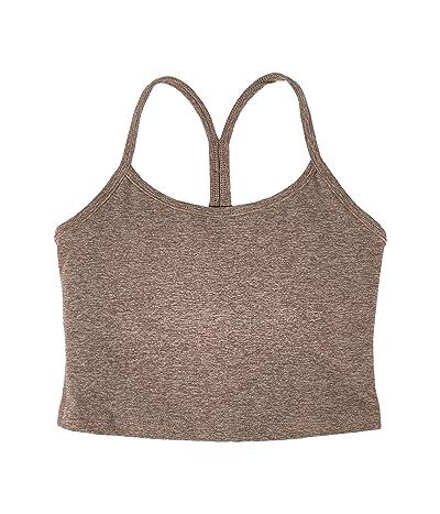 Beyond Yoga Spacedye Slim Racerback Cropped Tank Top (Mocha/Latte) Women