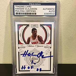 2010 Timeless Treasures Hakeem Olajuwon HOF 2008 Signed GU Jersey /99. - PSA/DNA Certified - Basketball Autographed Cards