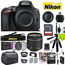 Nikon D5600 24.2MP DSLR Camera AF-P DX 18-55mm Lens Kit Camera Bag Battery Tripod 64GB SD Memory Card Deluxe Cleaning Kit Accessories Deluxe DSLR Camera Bundle