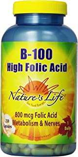 Nature's Life B-100 High Folic Acid | 250 ct