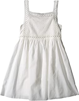 Cotton Crepe Couture Dress Embroidery Under Cover (Little Kids/Big Kids)