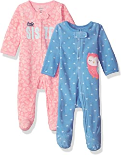 Carter's Girls' 2-Pack Microfleece Sleep and Play