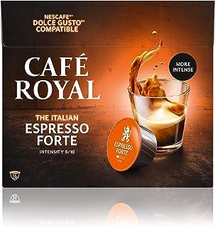 Café Royal Espresso Forte 48 capsules Compatibles avec Nescafé (R)* Dolce Gusto (R)* - Lot de 3X16 - intensité 8/10 - cert...