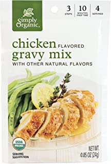 Simply Organic Chicken Flavored Gravy Mix, Certified Organic, 0.85-Ounce Packets (Pack of 12)