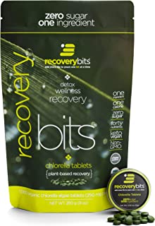 RECOVERYbits Pure Chlorella Tablets - Bag of 1,000 Tablets (250mg per Tablet) - Cracked Cell Wall, Non-GMO, Non-Irradiated...