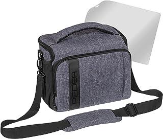 Pedea SLR Fashion Funda para Cámara Canon EOS 7d 50d 70d 5d mark iii 450d 100d 1000d EOS M3/Nikon D5500/Pentax K de 1/Sony Alpha 6000(tamaño XL) gris con protector de pantalla