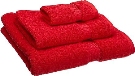 Superior 900 Gram Egyptian Cotton 3-Piece Towel Set, Red