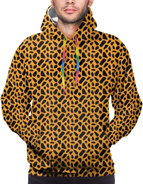 TENJONE Men's Hoodies Sweatshirts,Bicolor Desk Furniture Design with Grunge Inspirations